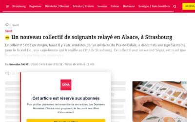 Un collectif de professionnels de santé relayé en Alsace.