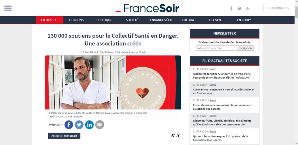 Collectif Santé en Danger - France soir
